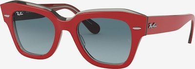 Ray-Ban Sonnenbrille 'State Street' in grau / rot, Produktansicht