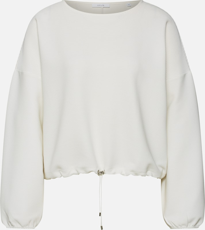Sweat 'goneta' En shirt Opus Crème IeEHWYb92D