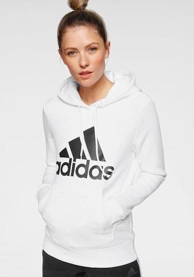 ADIDAS PERFORMANCE Sweatshirt in schwarz / weiß: Frontalansicht