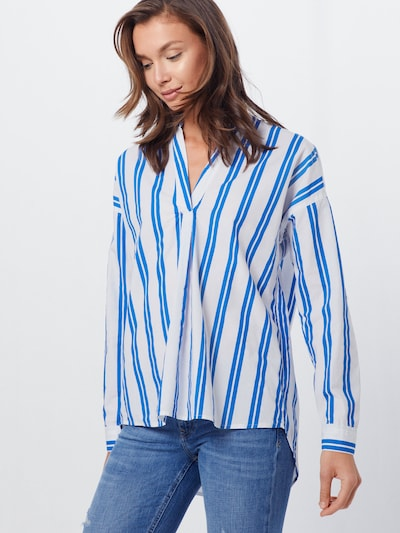 ESPRIT Bluse 'OCS Blouse' in hellblau / offwhite: Frontalansicht