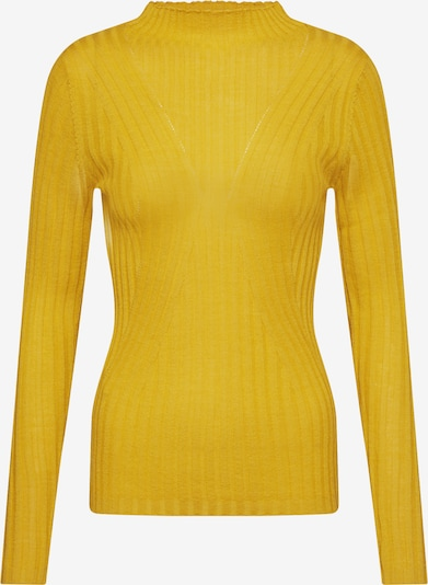 SELECTED FEMME Pullover 'SLFLIMA LS KNIT T-NECK' in gelb, Produktansicht