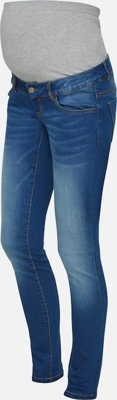 MAMALICIOUS Jeans 'MLFIFTY 002 SLIM PANT' in blue denim / grau: Frontalansicht