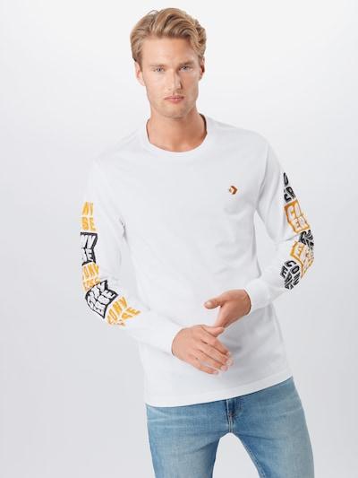 CONVERSE Shirt in gelb / schwarz / weiß: Frontalansicht