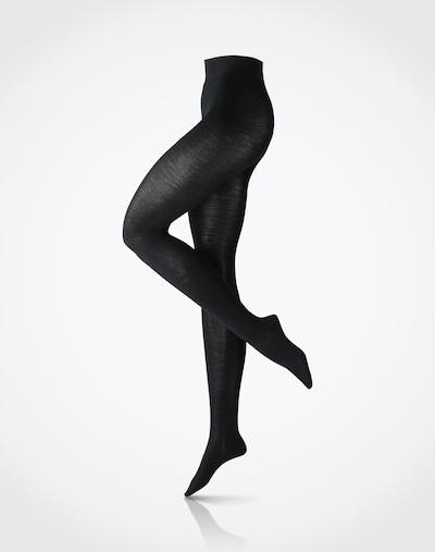 FALKE Collant 'Softmerino' en noir, Vue avec produit