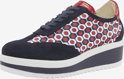 heine Sneaker in marine / rot / weiß: Frontalansicht