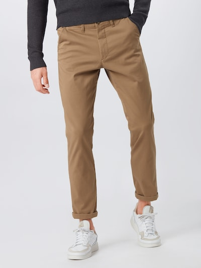 SELECTED HOMME Hose in hellbraun, Modelansicht