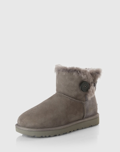 UGG Boots 'Mini Bailey Button II 1016422-CHE' in basaltgrau, Produktansicht