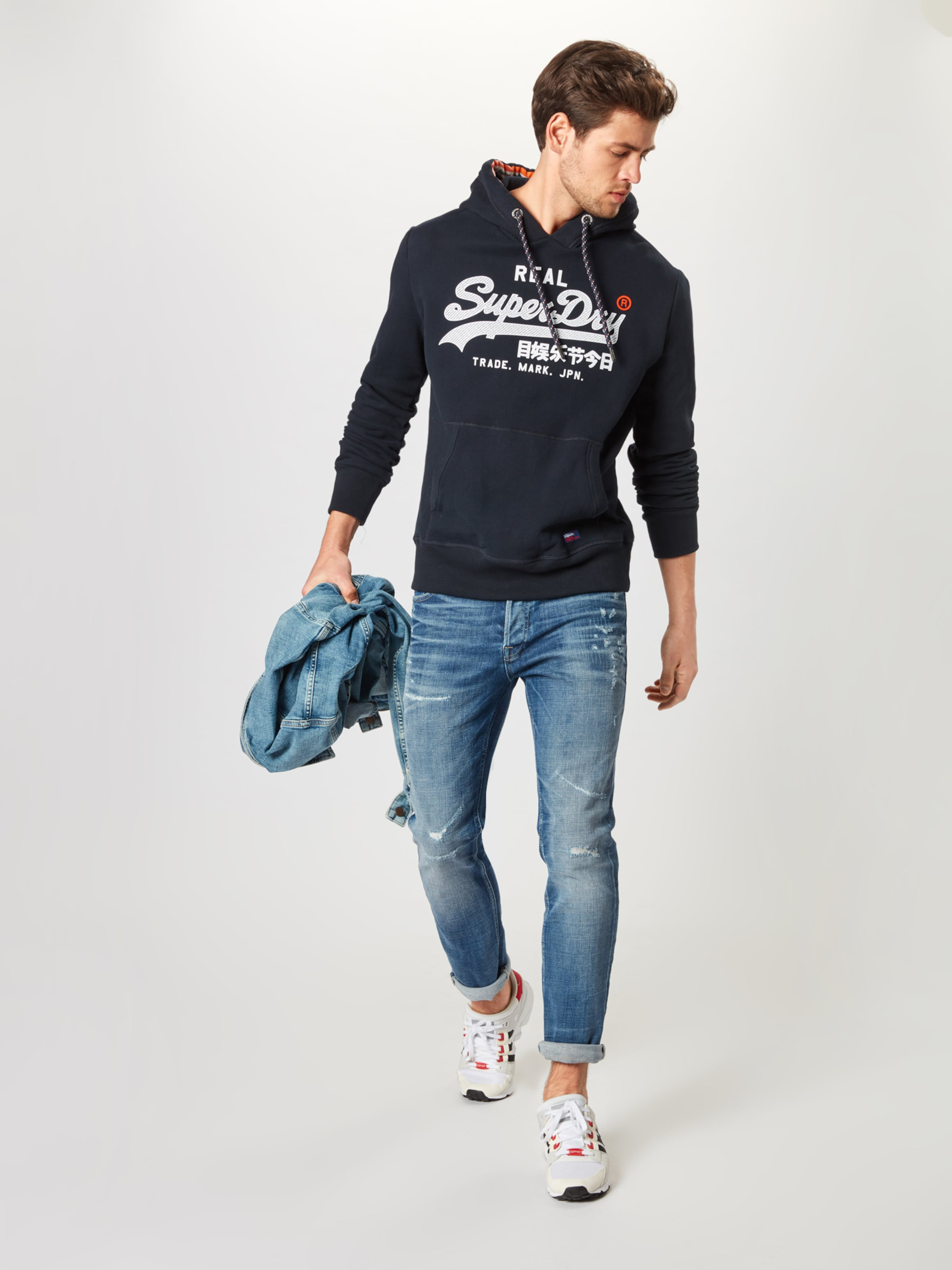 In 'vintage Racer' Sweatshirt Superdry NavyWeiß hxtsrdCBQ