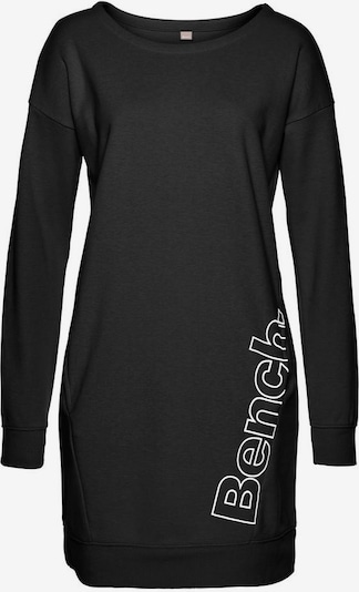 BENCH Sweatkleid in schwarz / weiß, Produktansicht