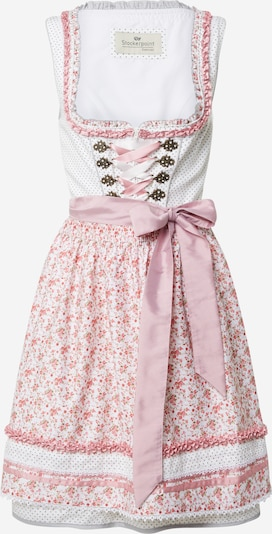 STOCKERPOINT Dirndl 'Dila' in de kleur Pink / Wit, Productweergave