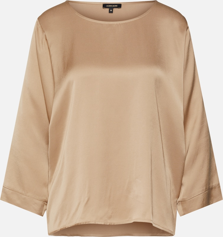 MORE & MORE Bluse in camel, Produktansicht