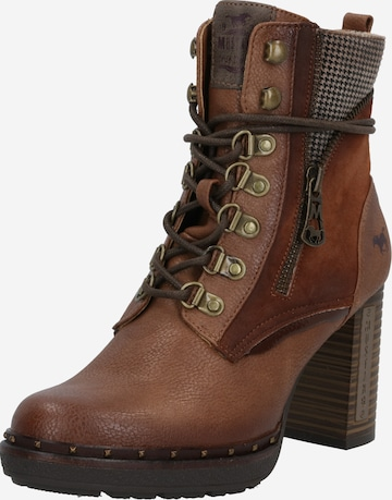 MUSTANG Lace-up bootie in Brown
