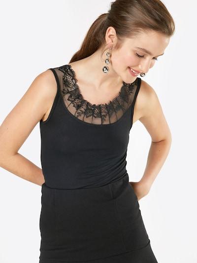 Cream Top 'Florence' in schwarz: Frontalansicht