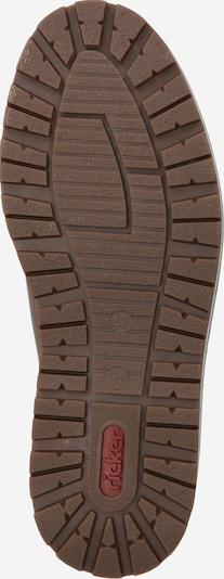 RIEKER Čevlji na vezalke | rjava barva: Pogled od spodaj