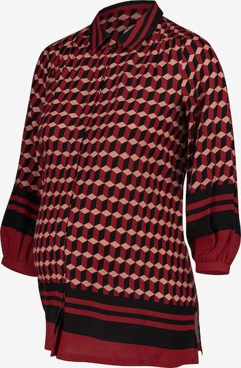QUEEN MUM Blouse ' Top ls ' in de kleur Rood, Productweergave