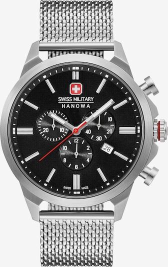 SWISS MILITARY HANOWA Uhr in schwarz / silber, Produktansicht