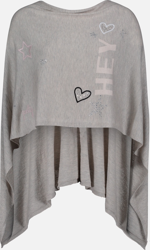 Betty Barclay Strick-Poncho in taupe, Produktansicht