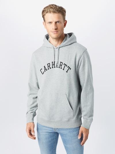 Carhartt WIP Mikina - světle šedá / černá: Pohled zepředu
