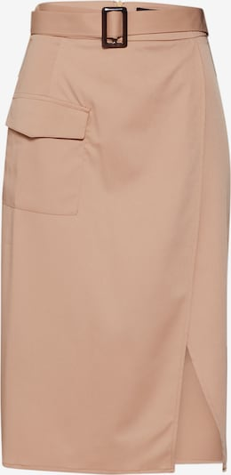 Missguided Rock 'Horn Belted Wrap Utility Midi Skirt' in sand, Produktansicht