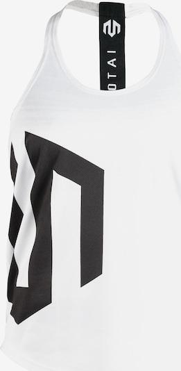 MOROTAI Sport-Top 'Brand Stringer' in schwarz / weiß, Produktansicht