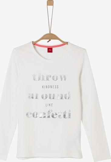 s.Oliver Junior Shirt in silber / weiß, Produktansicht