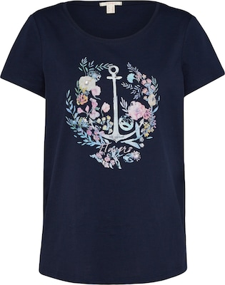 ESPRIT Shirt 'Floral Anchor '