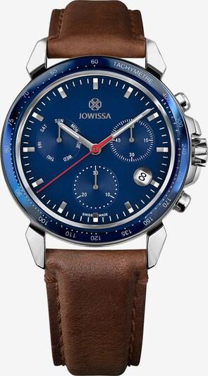 JOWISSA Analoog horloge 'LeWy 9' Swiss Men' in de kleur Blauw / Bruin / Zilver, Productweergave