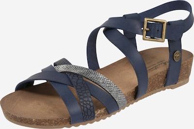 MUSTANG Sandały z rzemykami w kolorze ciemny niebieski / srebrnym, Podgląd produktu