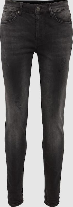 Tigha Jeans 'Morten 9407' in anthrazit   schwarz denim  Freizeit, schlank, schlank