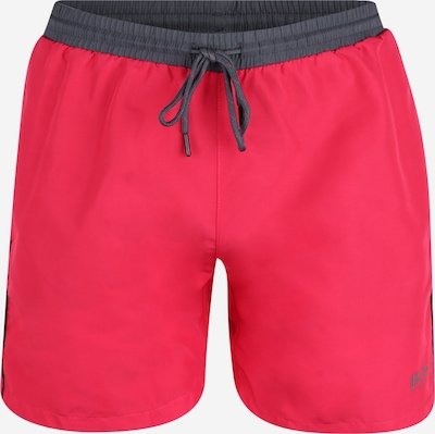 BOSS Zwemshorts 'Starfish' in de kleur Donkergrijs / Pitaja roze, Productweergave