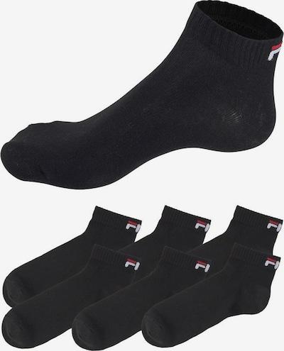FILA Socken in rot / schwarz / weiß, Produktansicht