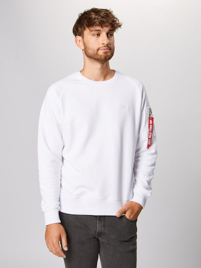 ALPHA INDUSTRIES Sweat-shirt en blanc: Vue de face