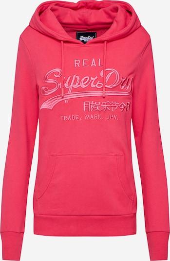 Superdry Sweatshirt  'VL TONAL EMB ENTRY HOOD UB' in pink, Produktansicht
