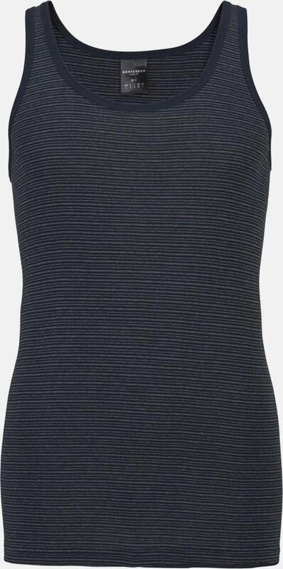 SCHIESSER Feinripp Unterhemd geringelt