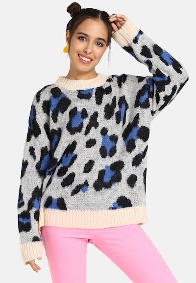 MYMO Pullover in blau / grau / schwarz, Modelansicht