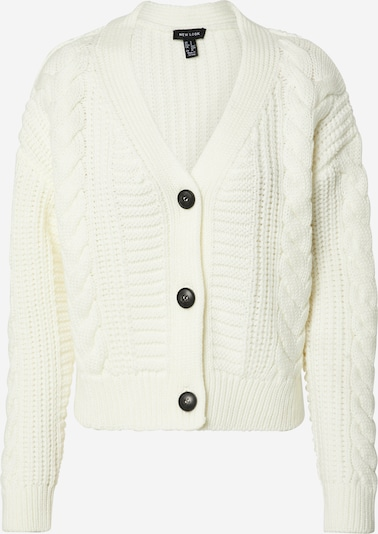 NEW LOOK Strickjacke  'CABLE' in offwhite, Produktansicht