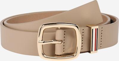 TOMMY HILFIGER Gürtel 'Corporate 3.0' in beige / gold, Produktansicht