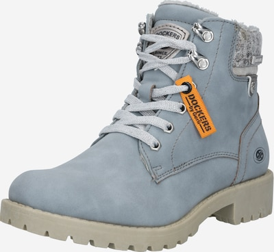 Dockers by Gerli Snowboots in hellblau / grau / orange / schwarz: Frontalansicht