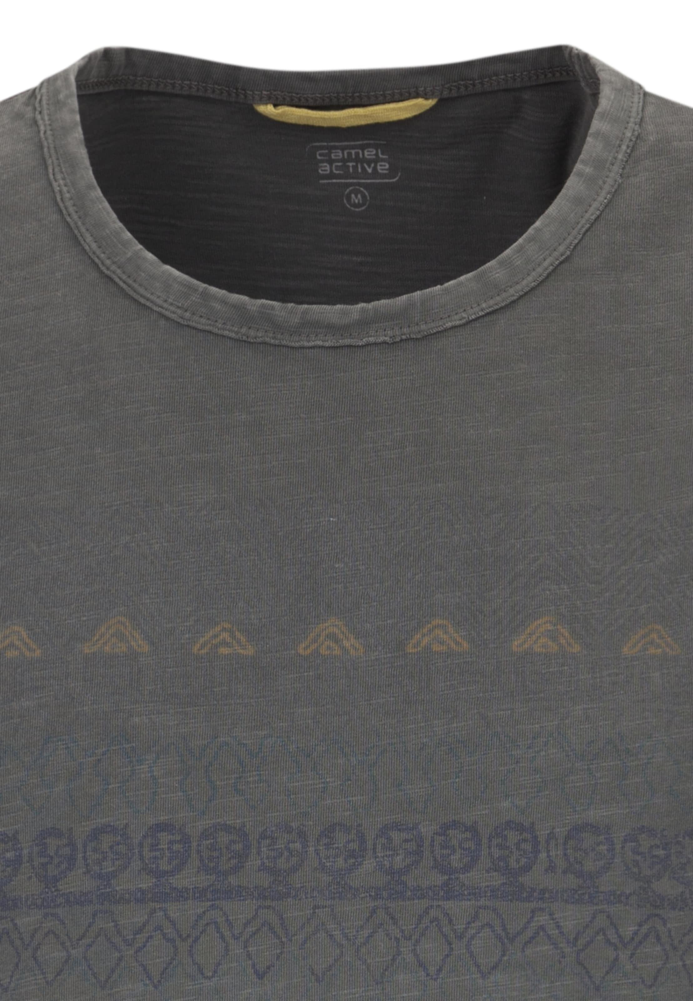 En Foncé shirt T Camel Active BleuMoutarde Gris ARj45L