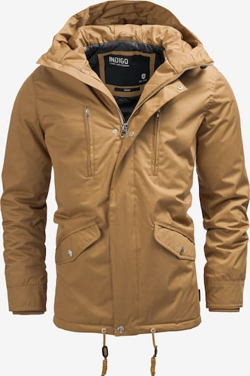 INDICODE JEANS Parka 'Chance' in cognac: Frontalansicht