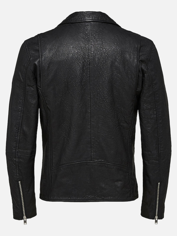 SELECTED HOMME Lamm Lederjacke