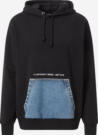 DIESEL Sweat-shirt en bleu denim / rose / noir / blanc: Vue de face