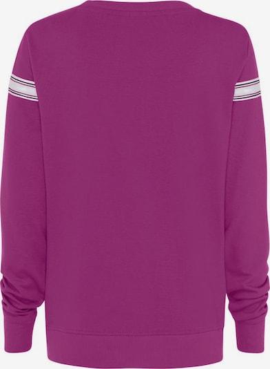 HIS JEANS Sweat-shirt en violet / blanc, Vue avec produit