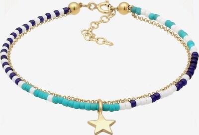 ELLI Armband in navy / türkis / gold / weiß, Produktansicht