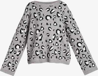 MYMO Pullover in grau / schwarz / weiß, Produktansicht