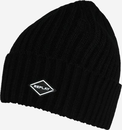 REPLAY Bonnet en noir, Vue avec produit
