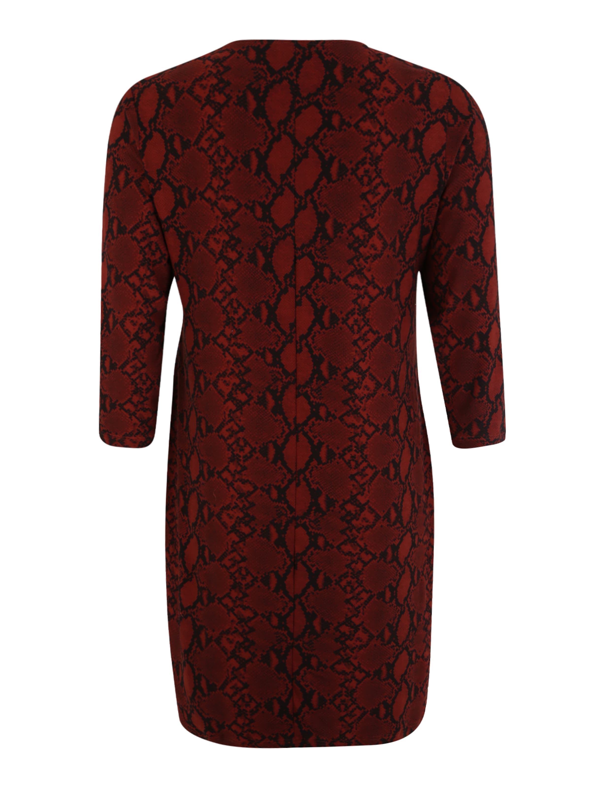 Kleid Curves New Snake Look 'x In Softtouch RotSchwarz Bodycon' tsdCBhQrx