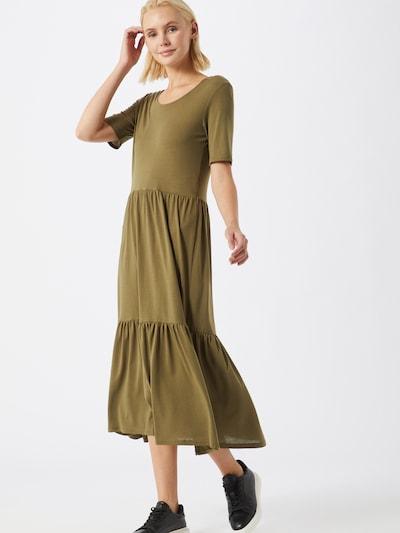 JACQUELINE de YONG Kleid 'DALILA FROSTY' in oliv: Frontalansicht