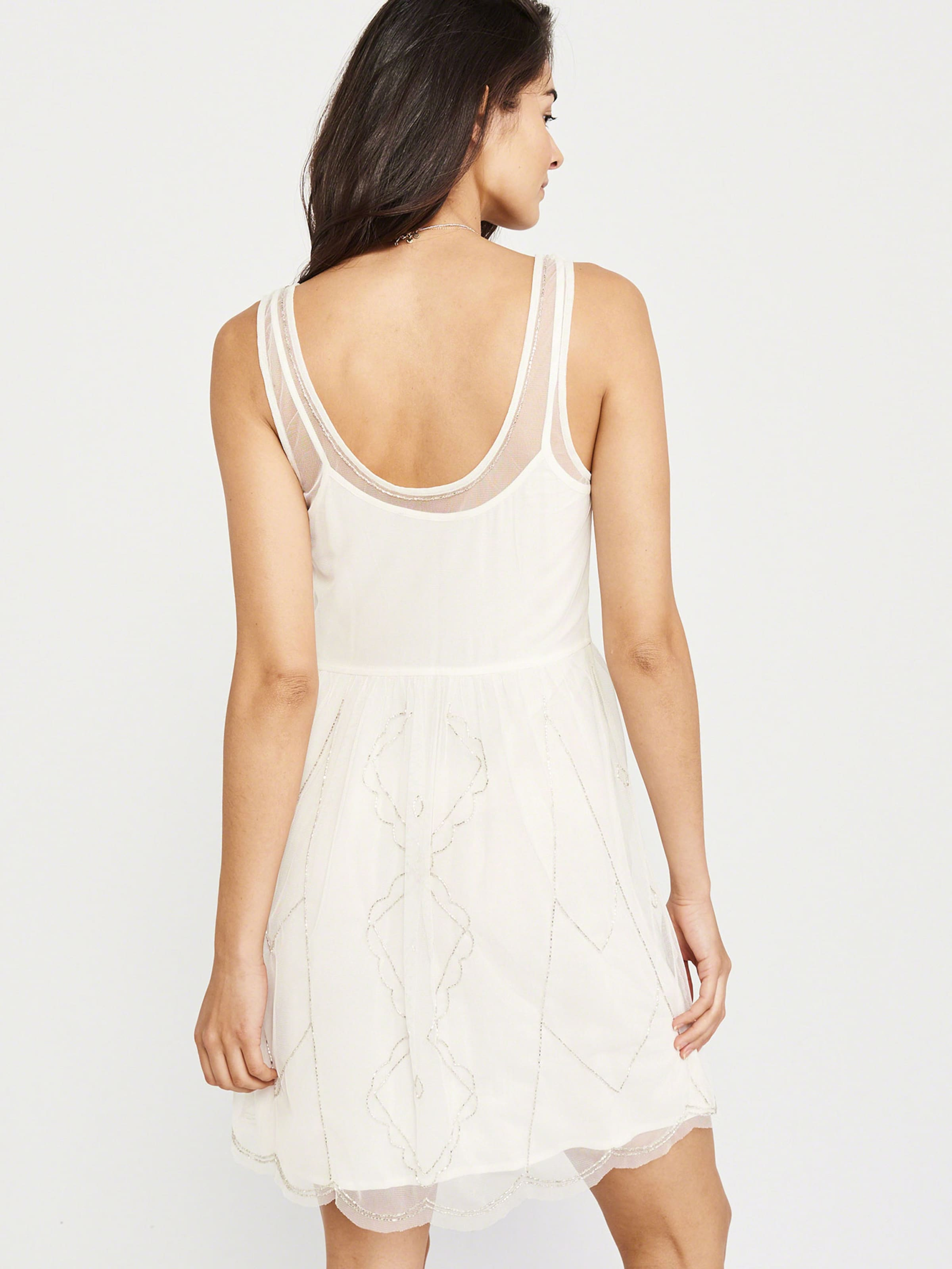 'sleeveless En Fitch Dres' Blanc Shine Party Naturel Robe Abercrombieamp; IED92H