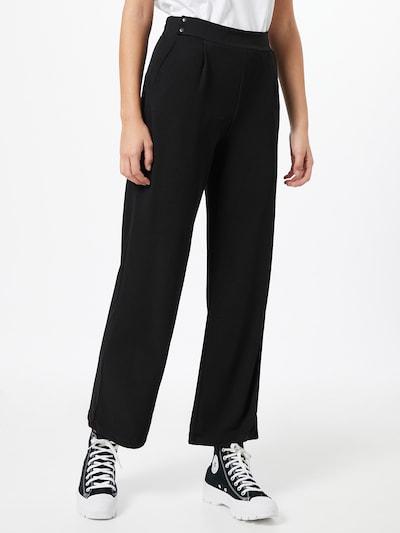 fekete PIECES Élére vasalt nadrágok 'RIGGA', Modell nézet